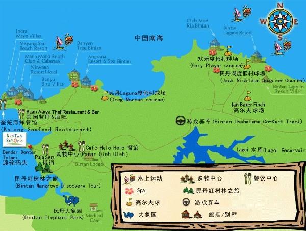 民丹岛地图; 民丹岛信息提示