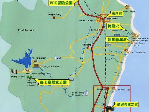 普吉岛到泰国拜县地图