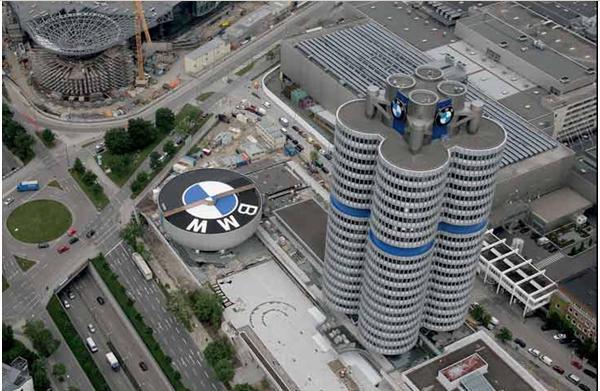 ...宝马汽车博物馆的所在,同时也被视为慕尼黑的标志性城市建筑...