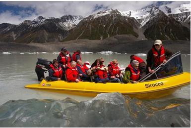 观赏塔斯曼冰川