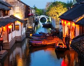 Zhujiajiao Water Town & Huangpu River Cruise with buffet (Group)