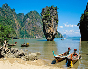 [1-Day Tour] Phang Nga Bay & Canoeing (Group, by big boat)